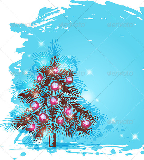 GraphicRiver Background with Christmas Tree 6011339