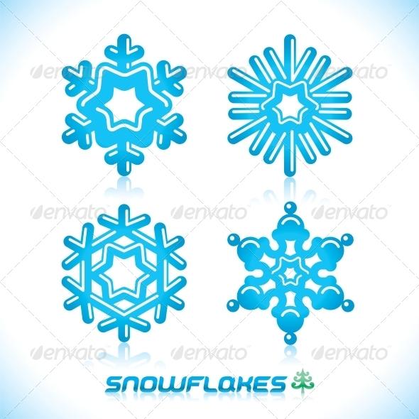 Blue Snowflakes Illustration