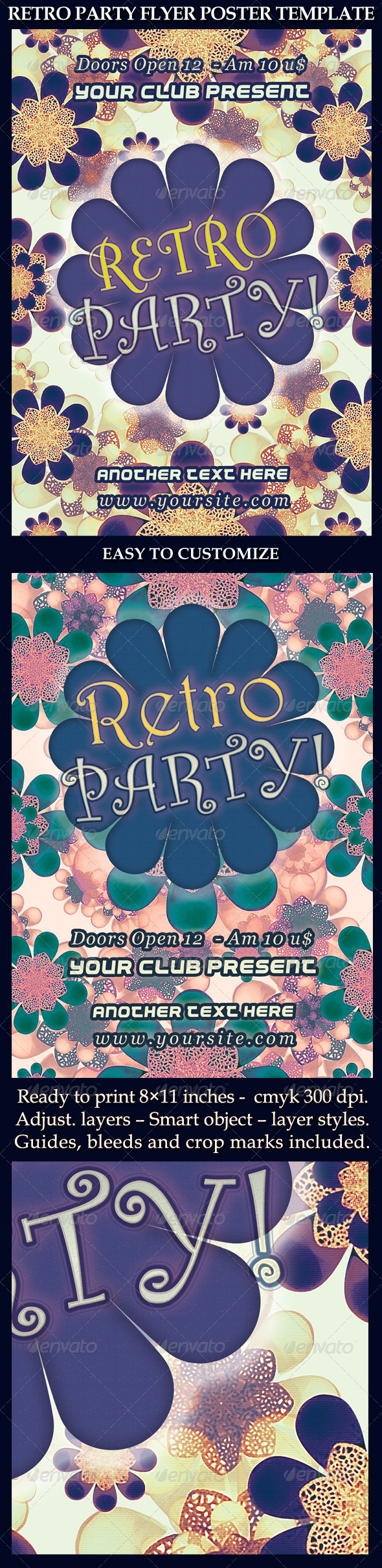 GraphicRiver Retro Party Flyer Poster Template 5993625