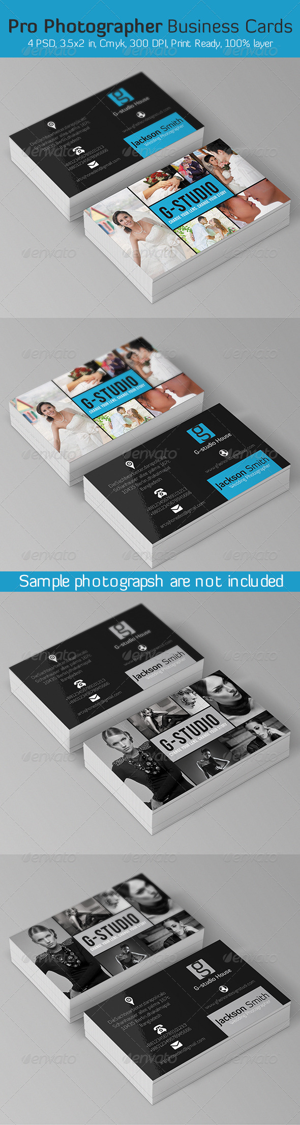 GraphicRiver Pro Photographer Business Card 5997770