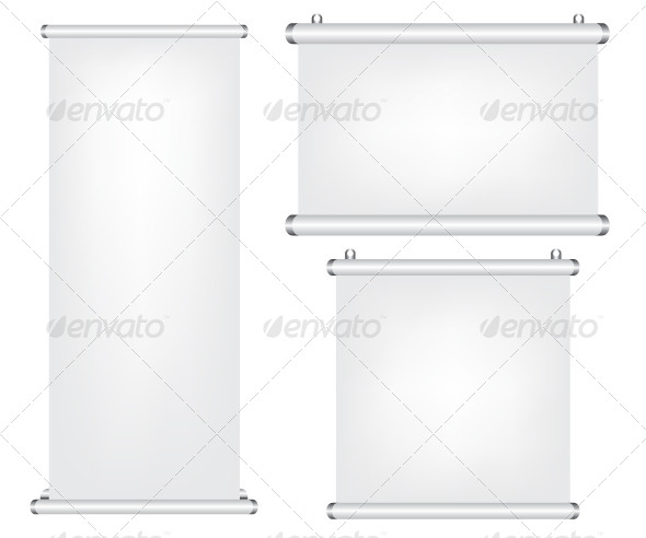 GraphicRiver Roll Up and Projector Screen Illustration 6011433