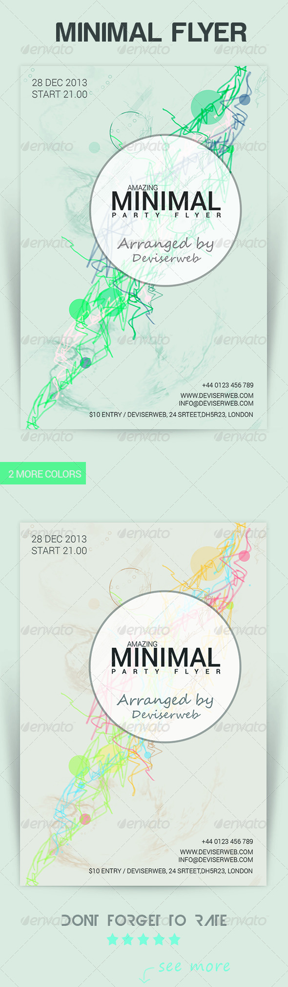 GraphicRiver Minimal Party Flyer 6011436