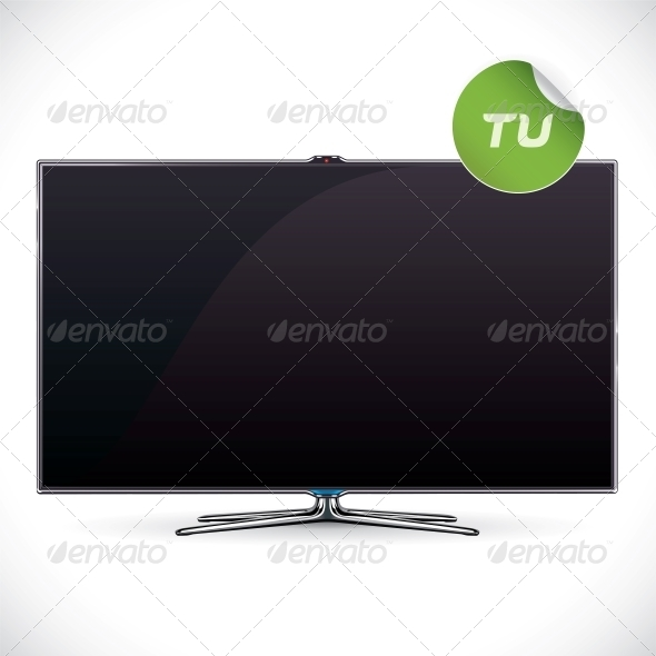GraphicRiver Black Glossy LCD TV 6011688