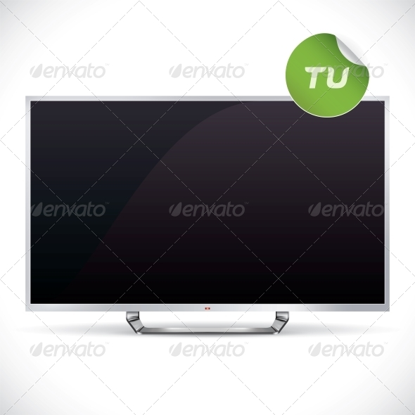 Black Glossy LCD TV