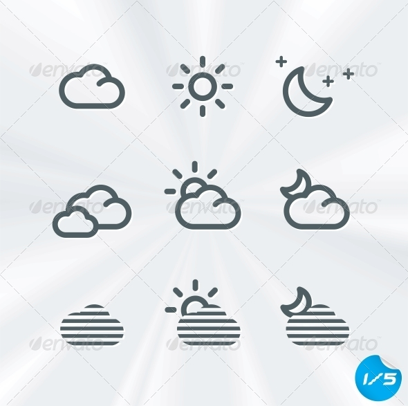 GraphicRiver Vector Weather Icons Collection 6011710
