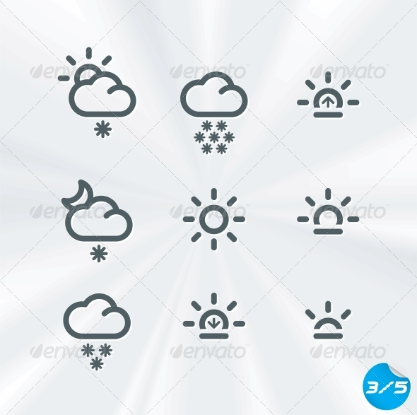 GraphicRiver Vector Weather Icons Collection 6011716