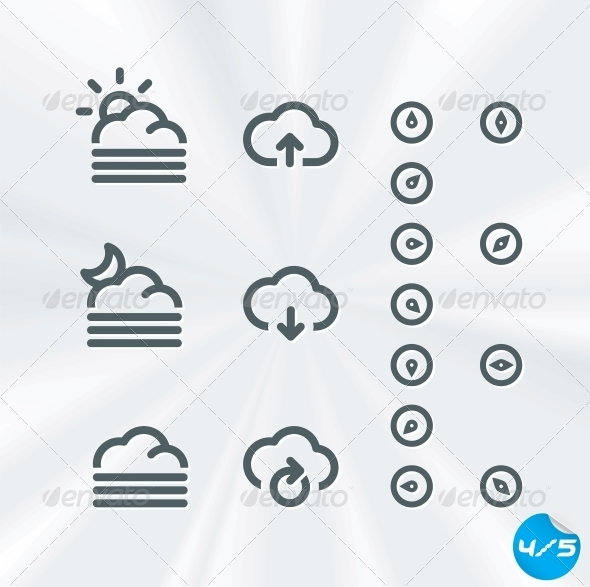 GraphicRiver Vector Weather Icons Collection 6011717