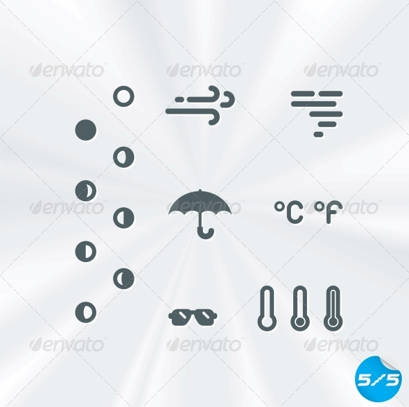 GraphicRiver Vector Weather Icons Collection 6011719