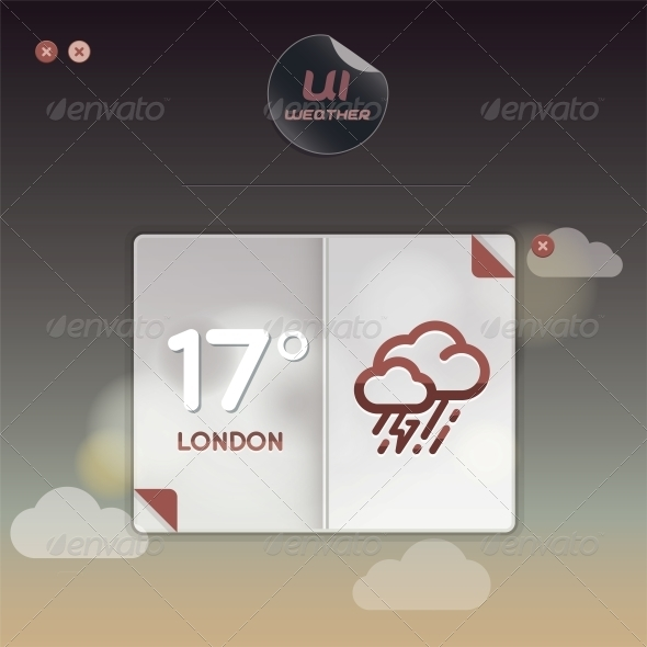 GraphicRiver Weather Widget Illustration 6011727