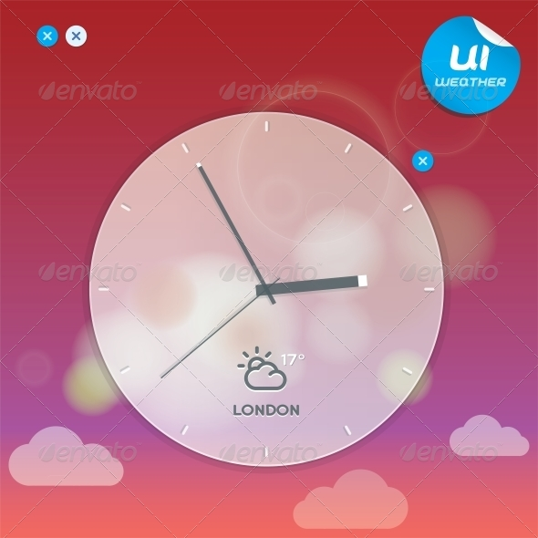 GraphicRiver Vector Weather Widget 6011733