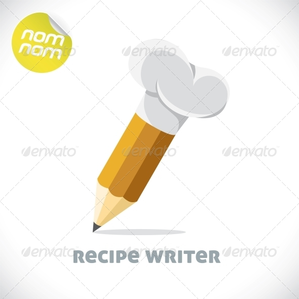GraphicRiver Recipe Writer Illustration 6011803