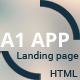 A1 App Landing Page - ThemeForest Item for Sale