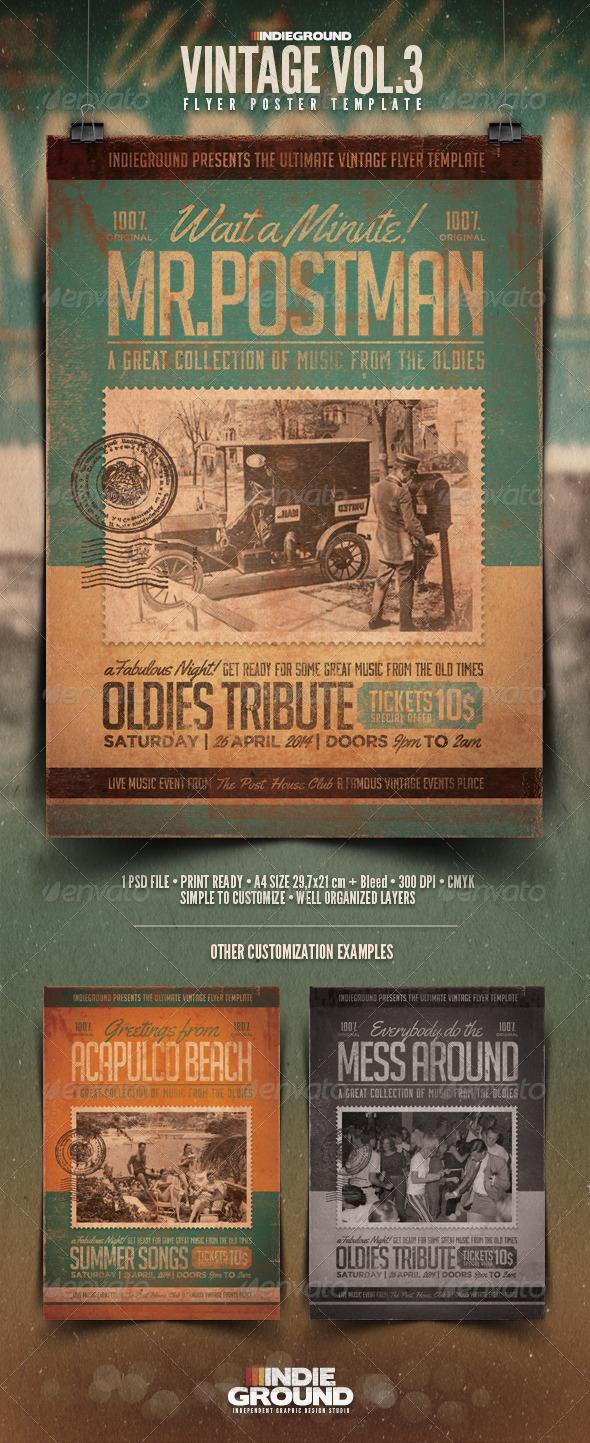 Vintage Flyer/Poster Vol. 3 - Events Flyers