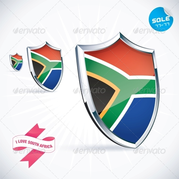 GraphicRiver I Love South Africa Flag Illustration 6012196