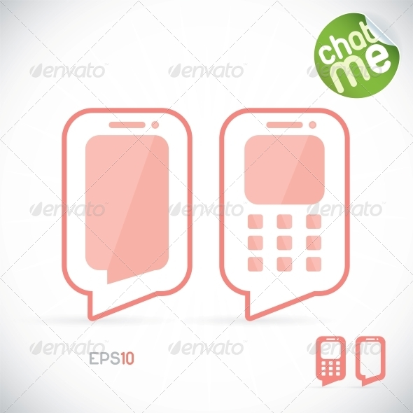 GraphicRiver Phone Chat Illustration 6012366