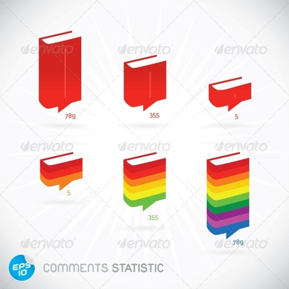 GraphicRiver Comments Statistic Symbols 6012372