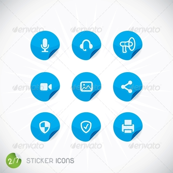 GraphicRiver Sticker Icons 6012384