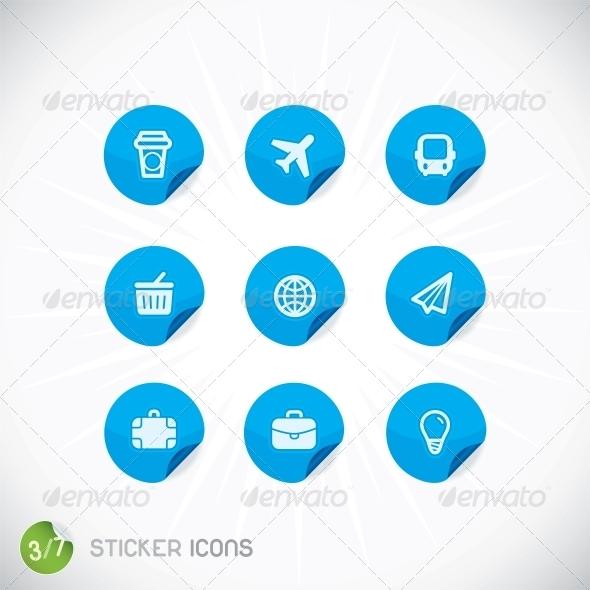 GraphicRiver Sticker Icons 6012385