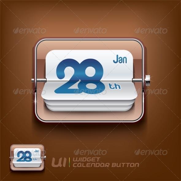 GraphicRiver Calendar Symbol Illustration 6012396