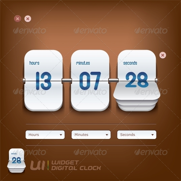 GraphicRiver Digital Clock Illustration 6012399