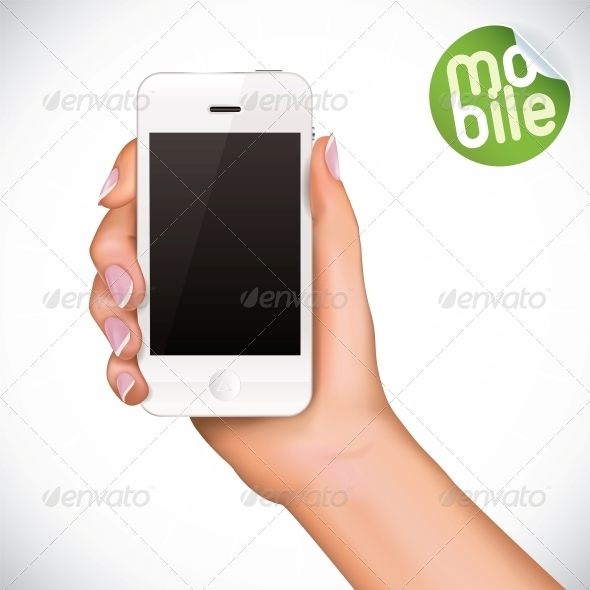 GraphicRiver Hand Holding Mobile Phone 6012432