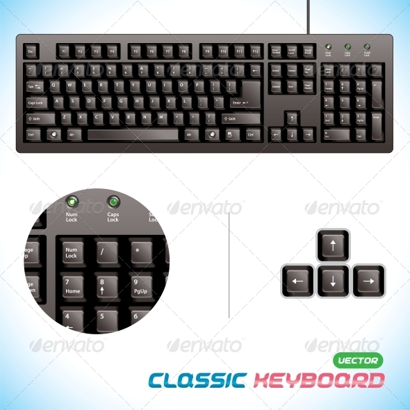 GraphicRiver 3D Classic Keyboard 6012551