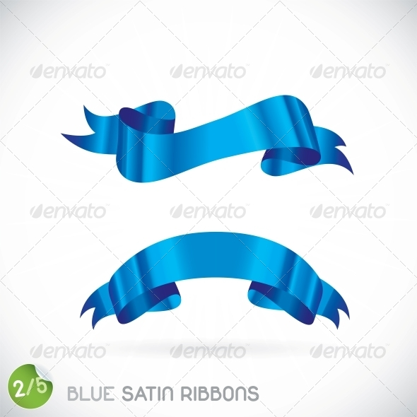 GraphicRiver Blue Satin Ribbons Illustration 6012602