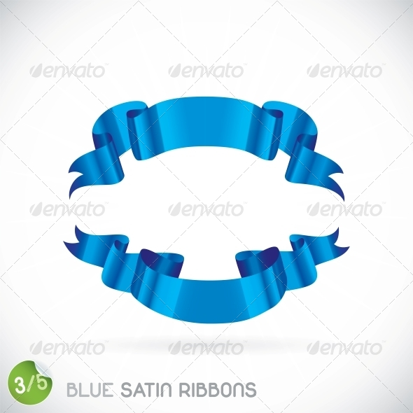 GraphicRiver Blue Satin Ribbons Illustration 6012607