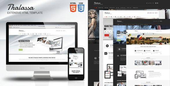 ThemeForest Thalassa Extensive HTML5 Template 6012626