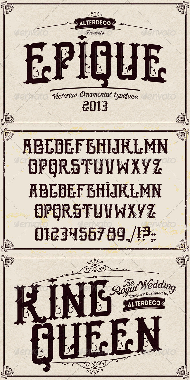 GraphicRiver Epique Typeface 6012696