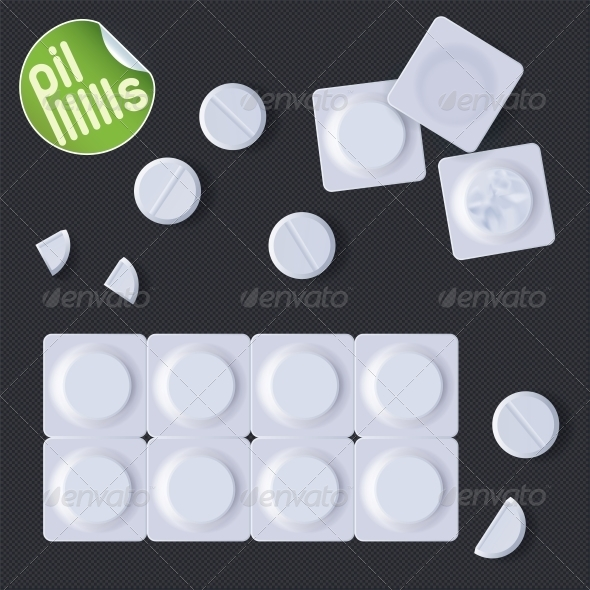GraphicRiver Pills In A Blister Pack 6012792