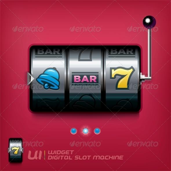 GraphicRiver Slot Machine Illustration 6012809