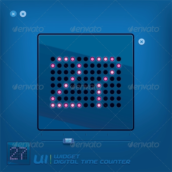 GraphicRiver Digital Time Counter Illustration 6012816