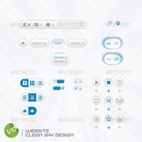 GraphicRiver Website Clean Sky Design 6012832