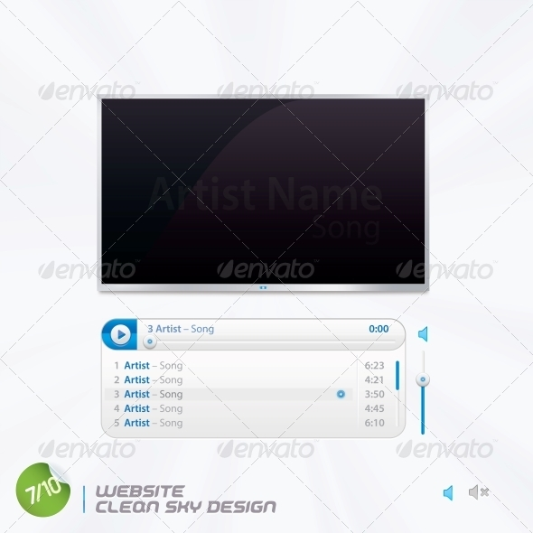 GraphicRiver Website Clean Sky Design 6012864