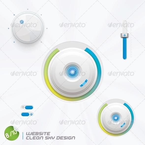GraphicRiver Website Clean Sky Design 6012866
