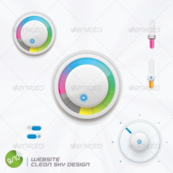GraphicRiver Website Clean Sky Design 6012869