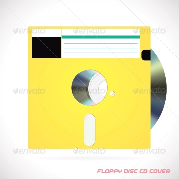 GraphicRiver Old Fashion Floppy Disc with Compact Disc 6012904