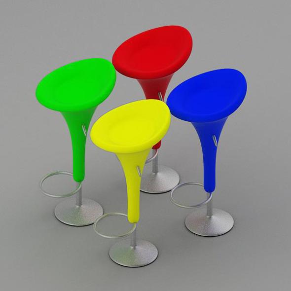 3DOcean Bombo Bar Stool 6012922
