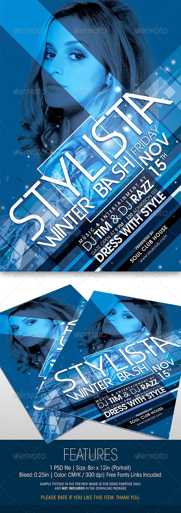 GraphicRiver Stylista Winter Bash Party Flyer 6000880