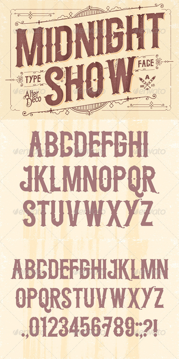 GraphicRiver Midnight Show Typeface 6012984