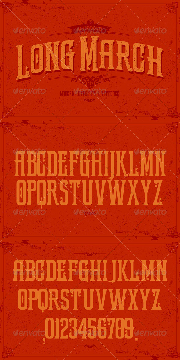 GraphicRiver Long March typeface 6013089