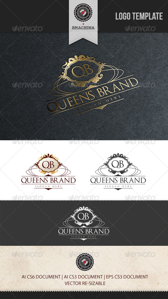 GraphicRiver Queens Brand Logo Template 6013720