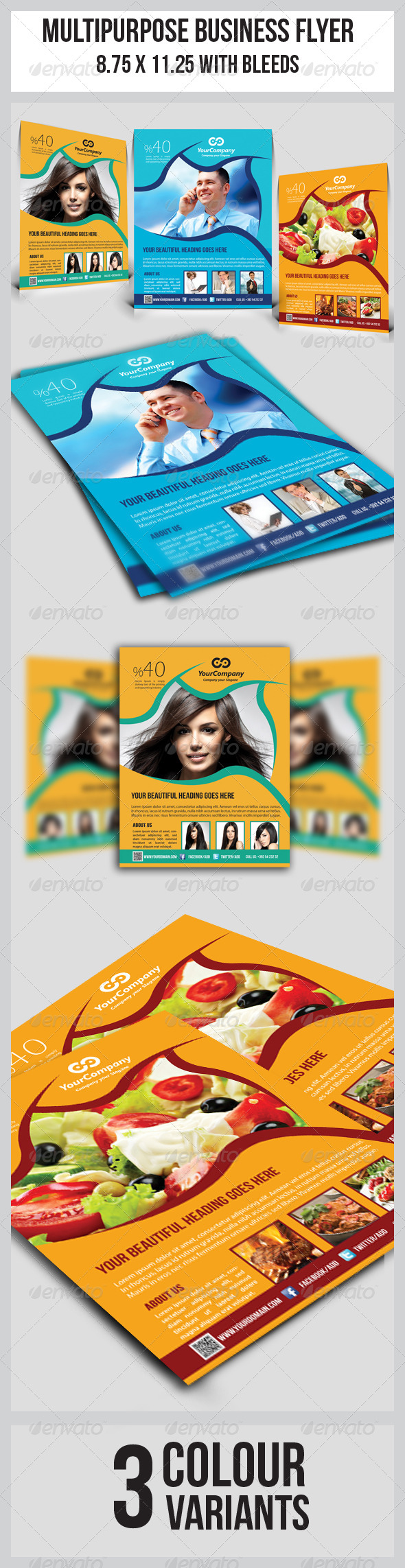 GraphicRiver Multipurpose Business Flyer 6013730