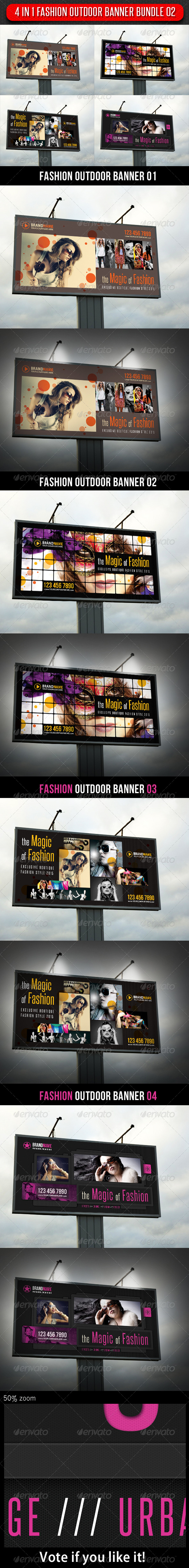GraphicRiver 4 in 1 Fashion Outdoor Banner Bundle 02 6013746
