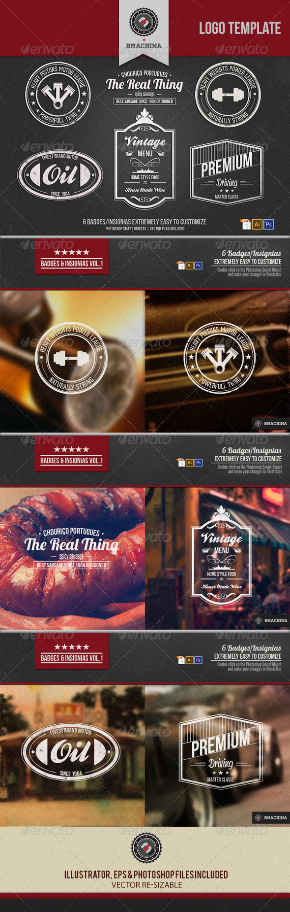 GraphicRiver Badges and Insignia s Vol.1 6014018