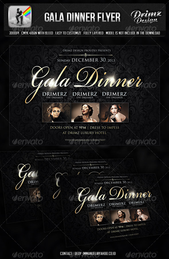 GraphicRiver Gala Dinner Flyer 6014632