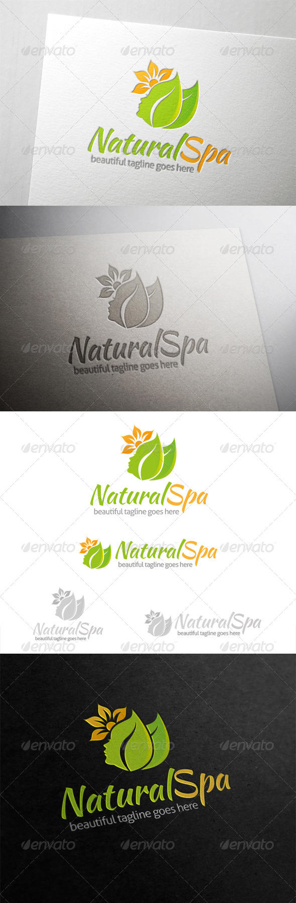 Natural Spa Logo - Nature Logo Templates