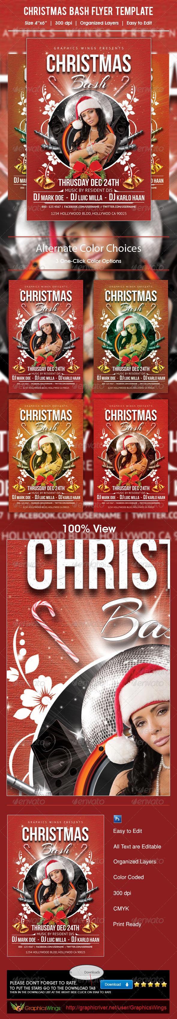 GraphicRiver Christmas Bash Flyer Template 6014669