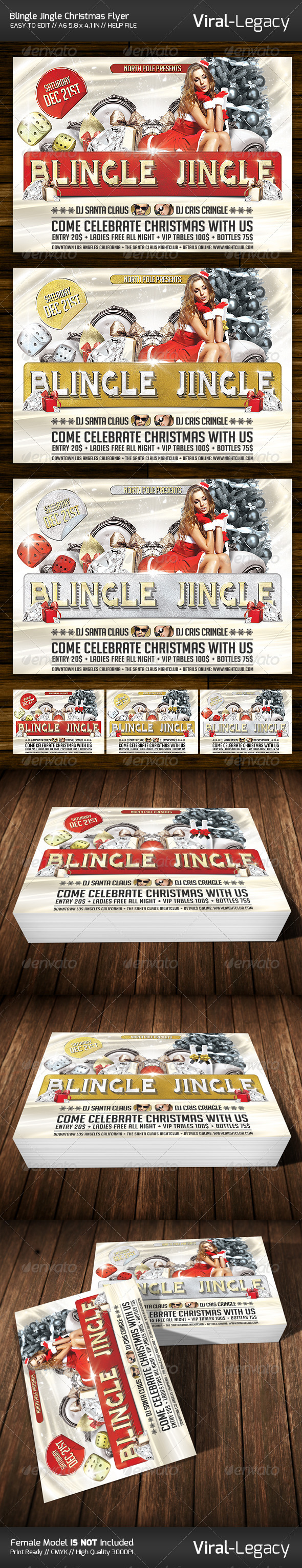 Blingle Jingle Christmas Flyer - Events Flyers